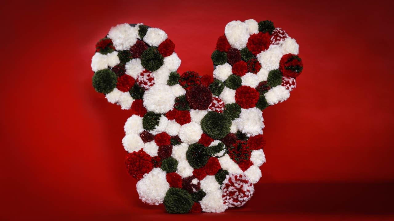Disney Parks Diy Make A Mickey Holiday Pom Pom Wreath Disney Parks Blog