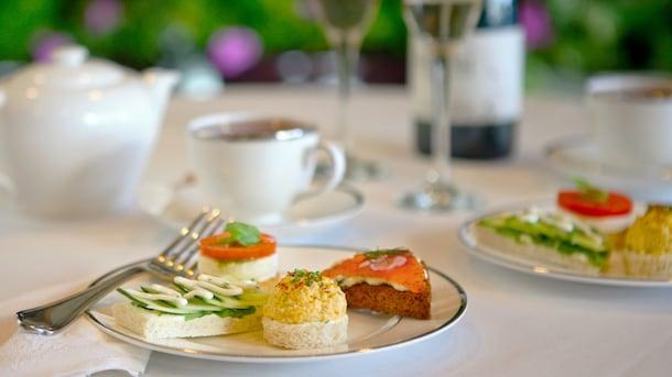 Afternoon Tea at Steakhouse 55 in the Disneyland Hotel at Disneyland Resort