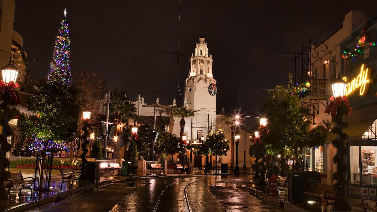 Disney Parks After Dark: Buena Vista Street is Aglow During Holidays at the Disneyland Resort