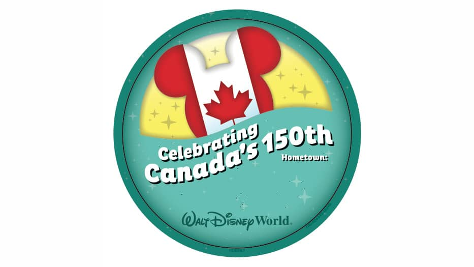 Epcot Celebrates Canada's 150th Birthday with Special Buttons