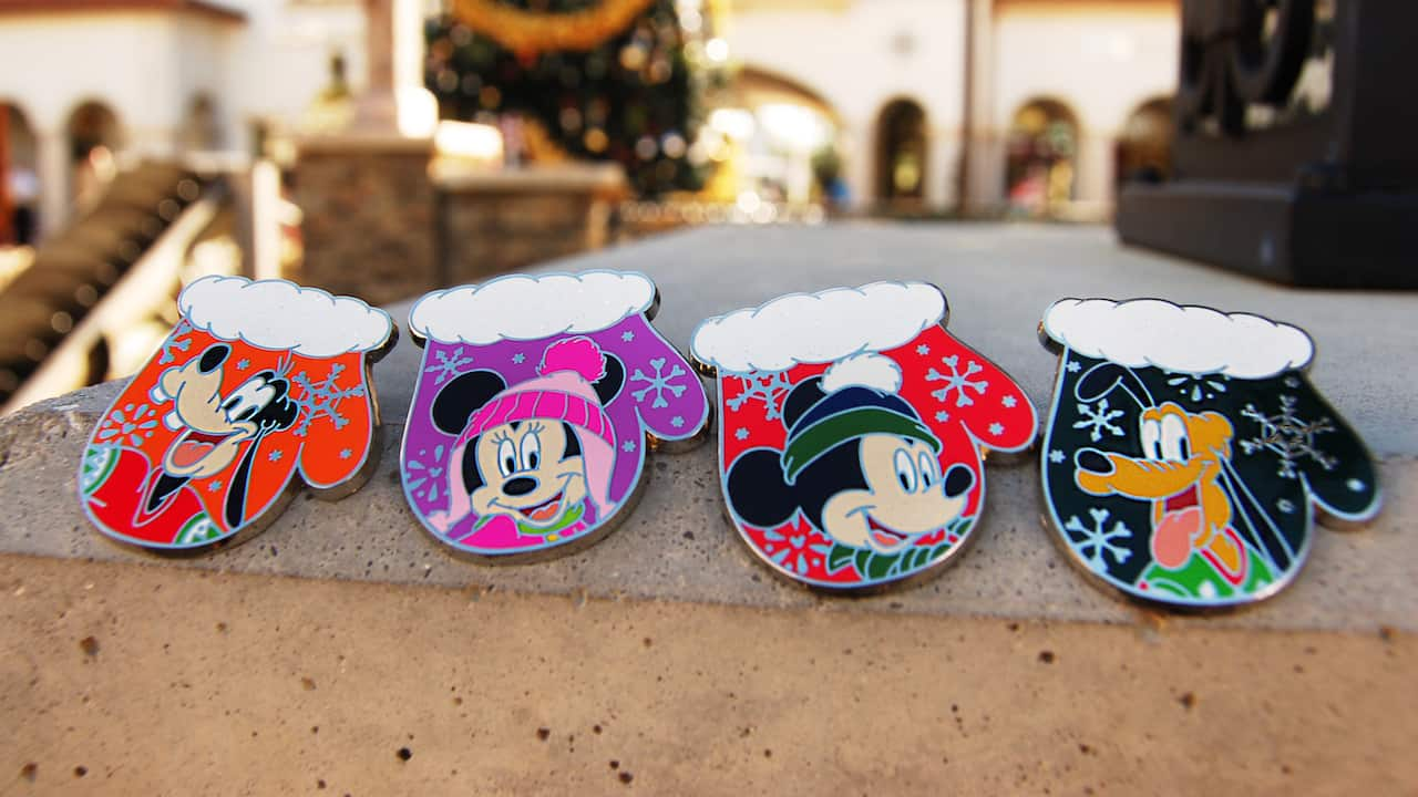 Bundle Up with New Disney Trading Pins with the Purchase of a Holiday Pin Series Disney Gift Card
