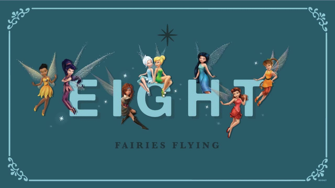 Holiday Countdown: Eight Fairies Flying