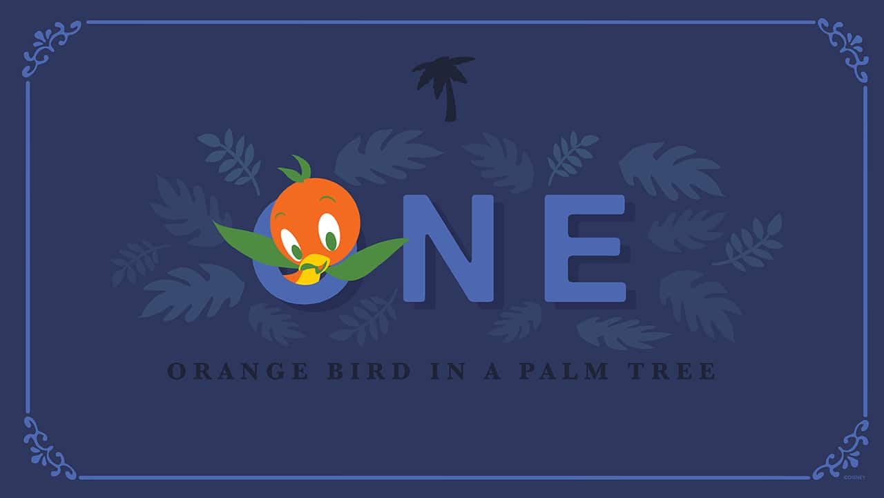 Holiday Countdown: One Orange Bird In A Palm Tree