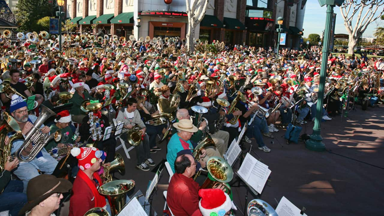 Here They Come A-Tuba-ing! Traditional Tuba Christmas Celebration Arrives Saturday at Noon in Downtown Disney District at the Disneyland Resort
