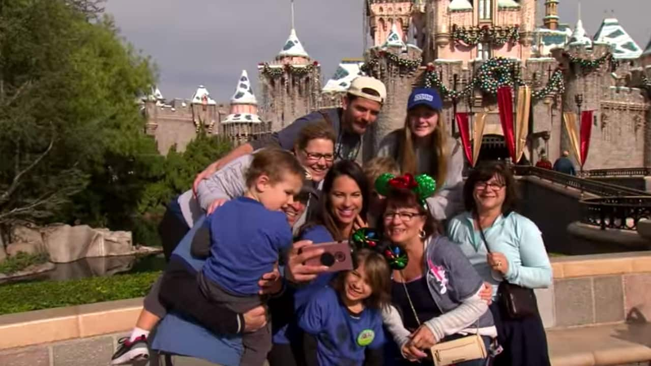 ESPN Major League Baseball Analyst Jessica Mendoza Celebrates Holidays at the Disneyland Resort with Family