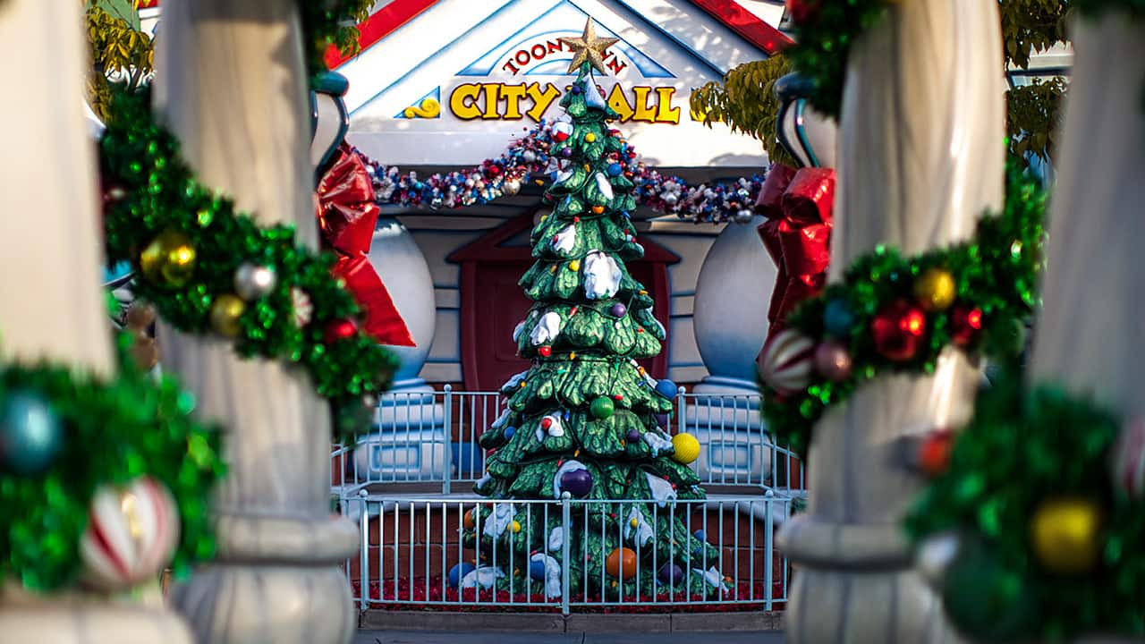 holidays in mickeys toontown at disneyland park