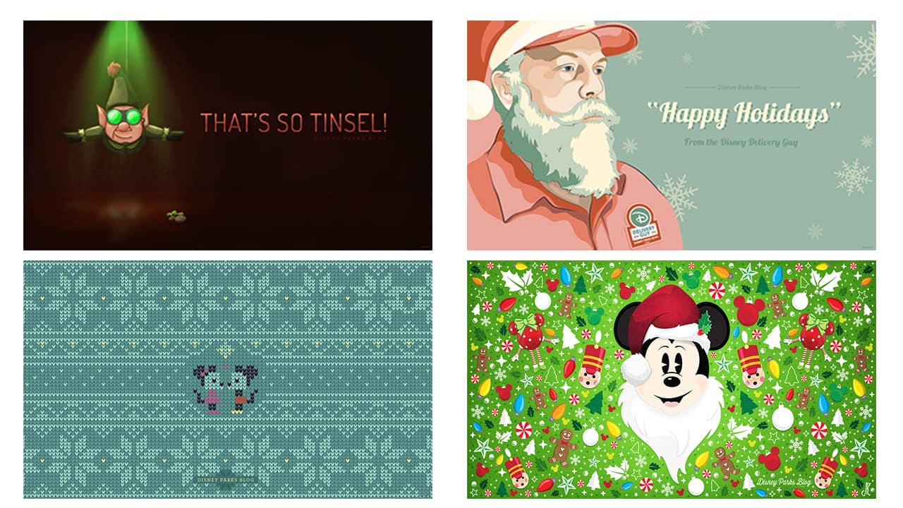 Walt Disney Christmas Wallpaper.Celebrate The Holidays With 15 Disney Parks Blog Wallpapers