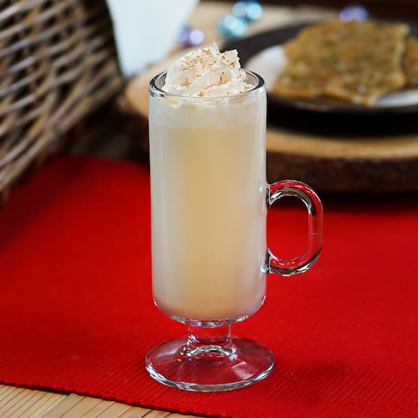 Holiday Eggnog Cocktail from Mistletoe Morsels at Festive Foods Marketplace Kiosks at Festival of Holidays in Disney California Adventure Park