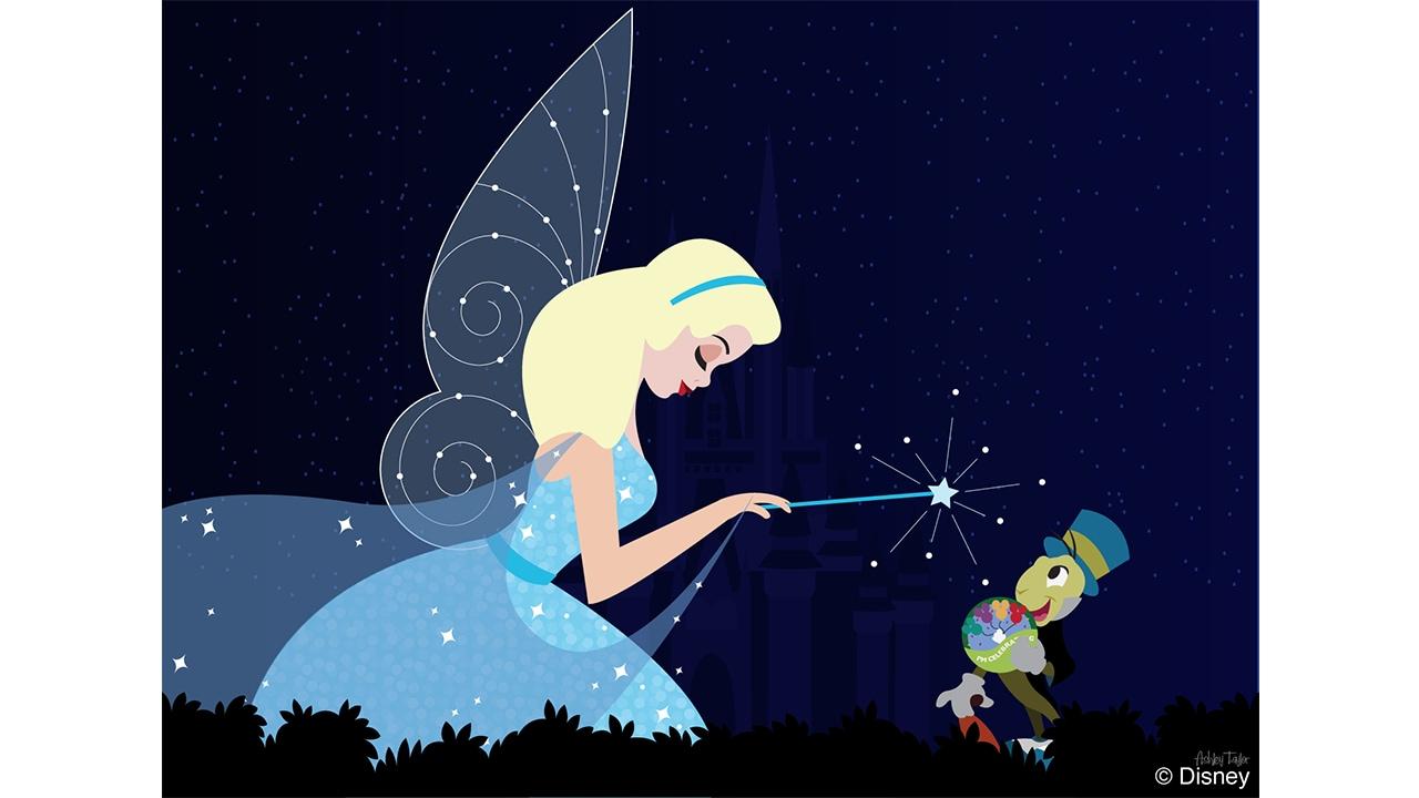 Disney Doodle: The Blue Fairy Passes Out Pins