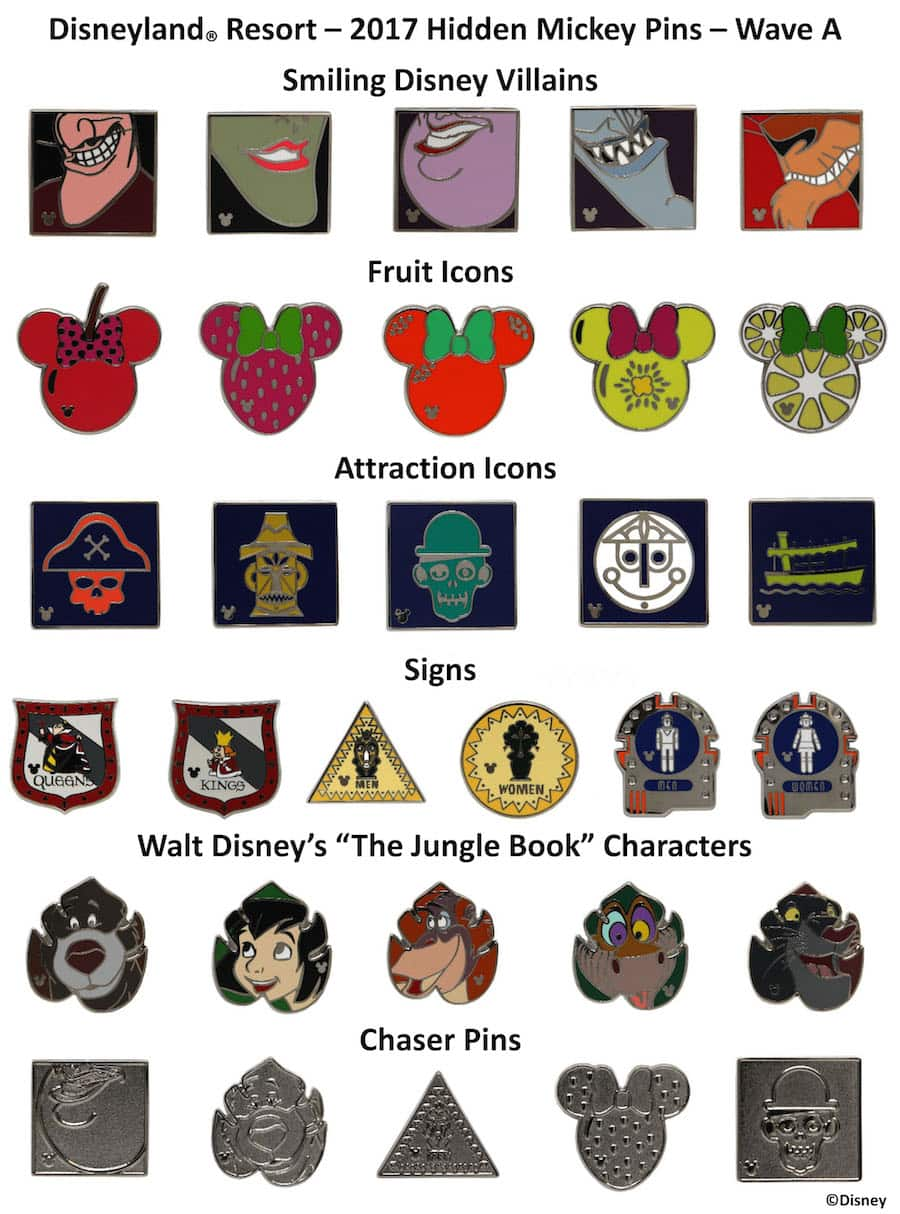 Collect and Trade New Hidden Mickey Pins at Disney Parks in
