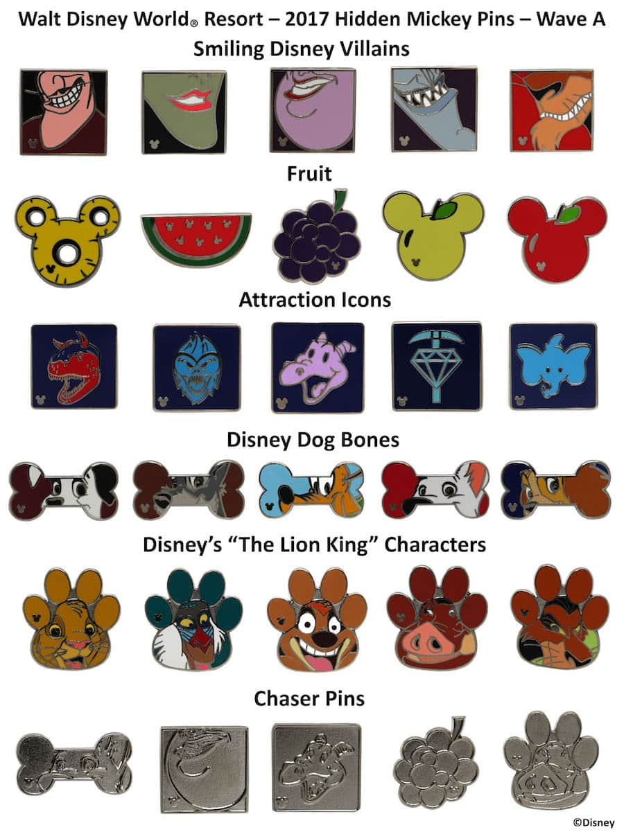 New Hidden Mickey Pins Coming to Walt Disney World Resort in 2017