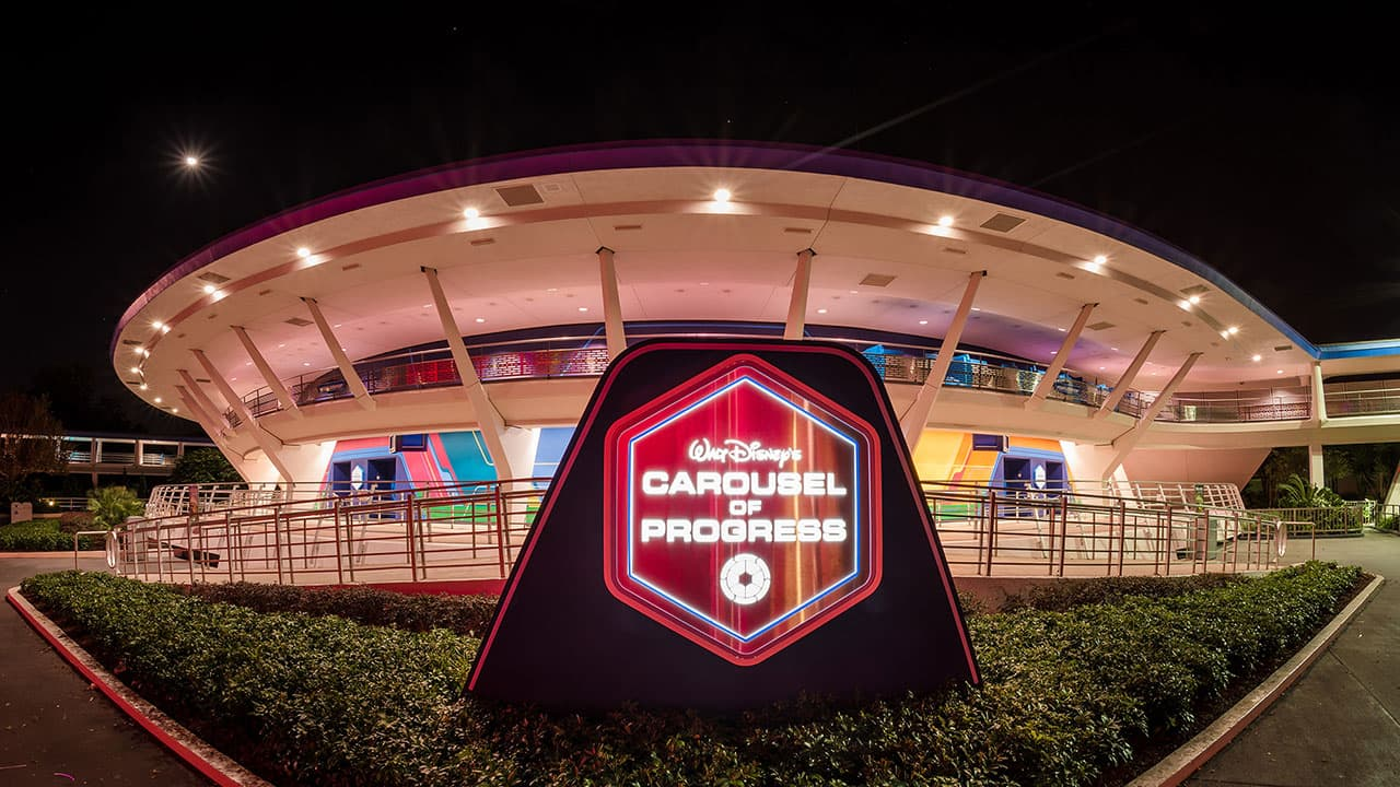 Disney Parks After Dark: Walt Disney's Carousel of Progress Illuminates the Night
