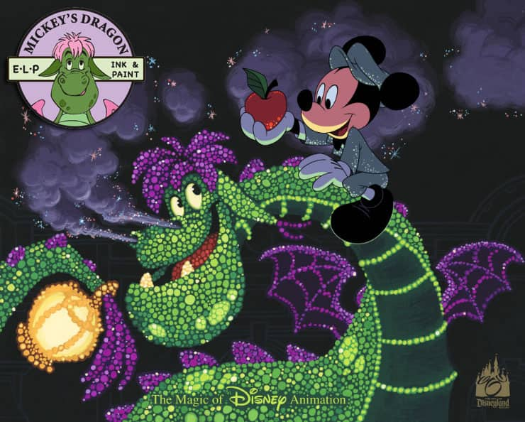 Ink & Paint cel 'Mickey's Dragon' Celebrate Return of Main Street Electrical Parade to Disneyland Park