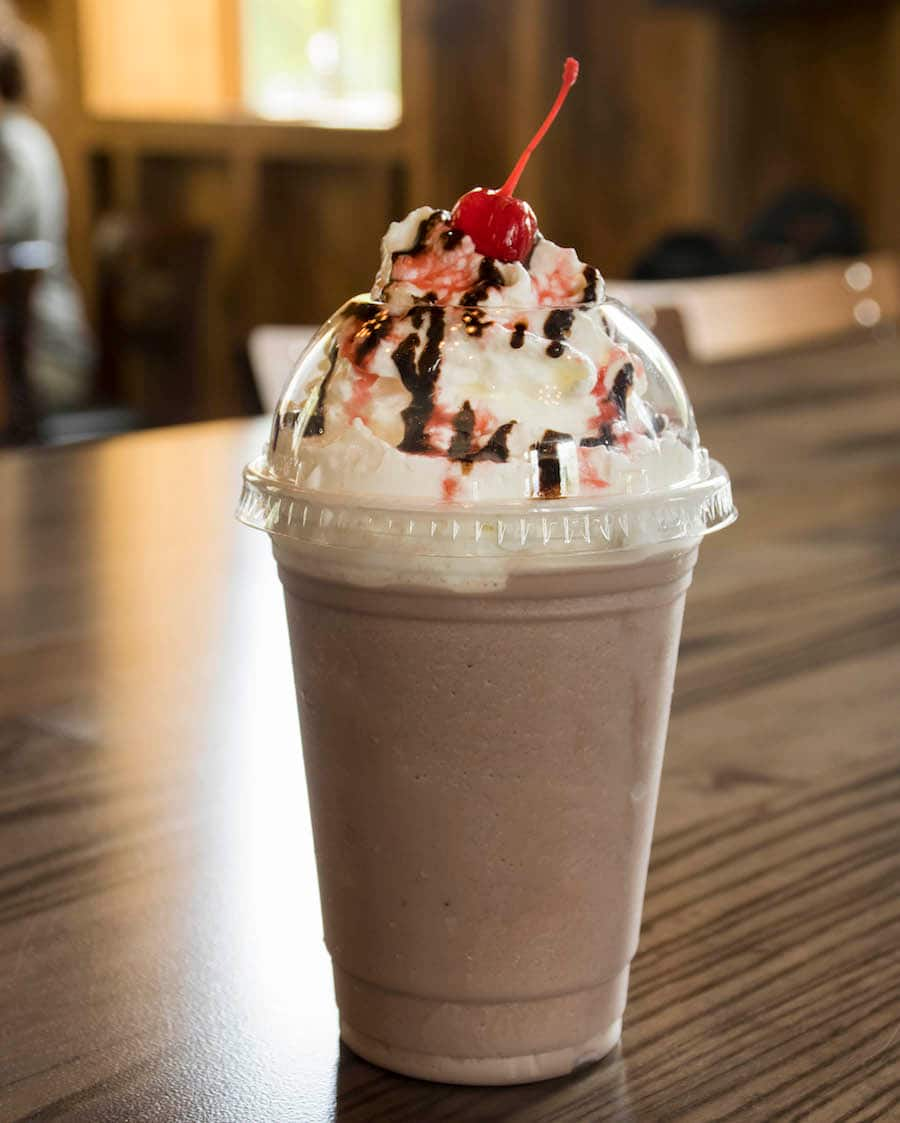 Chocolate-Covered Strawberry Shake from D-Luxe Burger