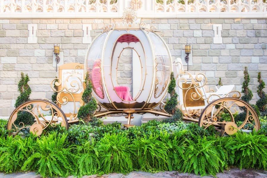 Disney PhotoPass celebrates Valentine's Day by Bringing Out Cinderella's Coach Feb. 13-14 at Magic Kingdom Park