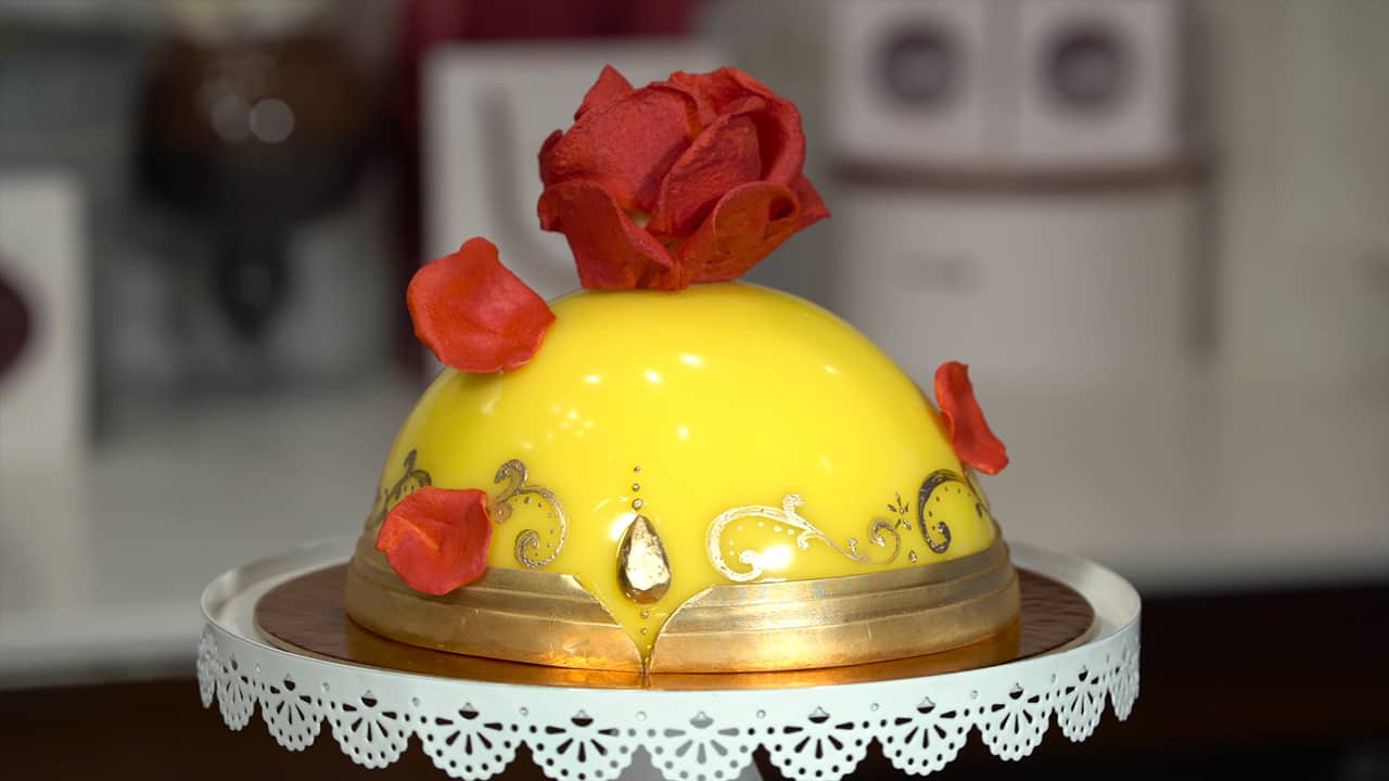 VIDEO: Enchanted Rose Cake Inspired by Beauty and the Beast