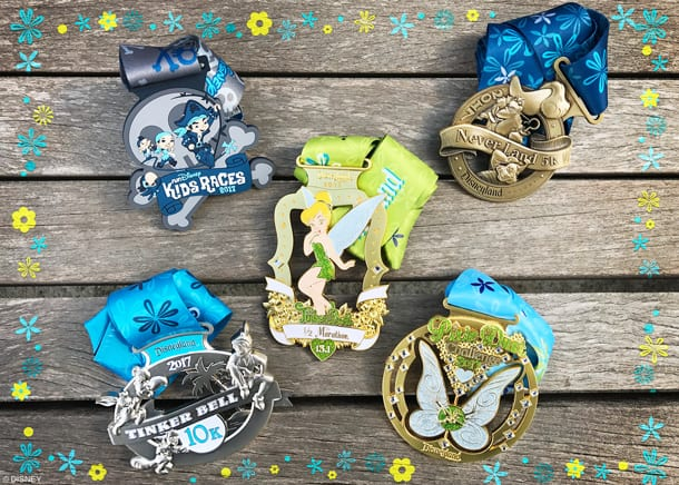 runDisney Medals from runDisney Tinker Bell Half Marathon