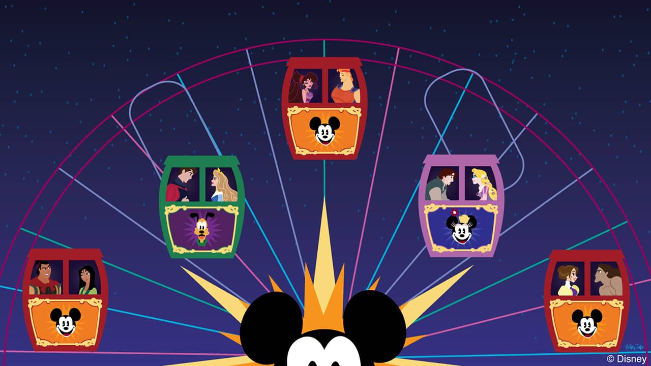 Disney Doodle: Mickey's Fun Wheel at Disney California Adventure Park