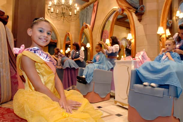 Belle treatment at Bibbidi Bobbidi Boutique