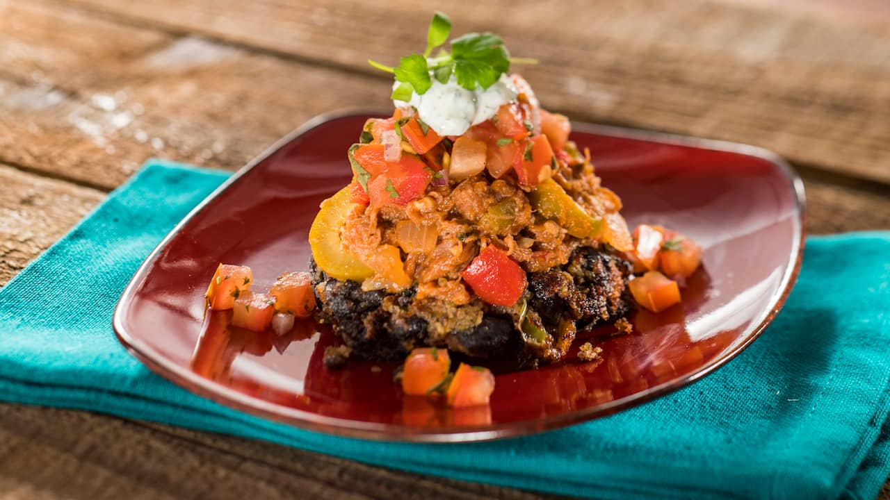 Carne Asada with Spicy Black Bean Cakes and Cilantro-Lime Sour Cream