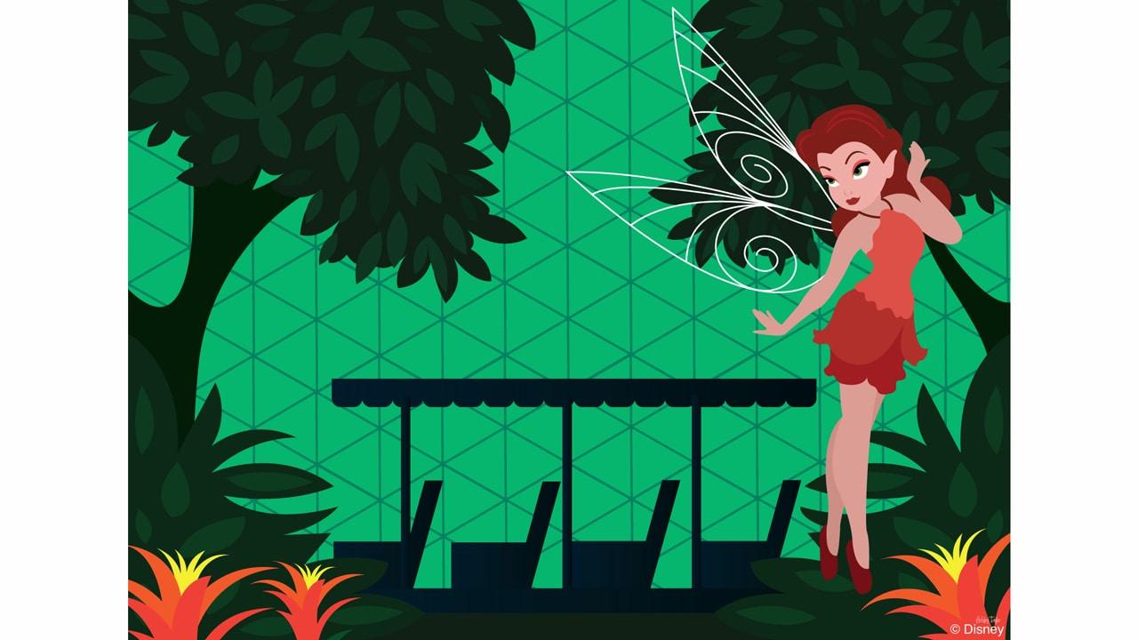 Disney Doodle: Rosetta Checks Out The Land Pavilion