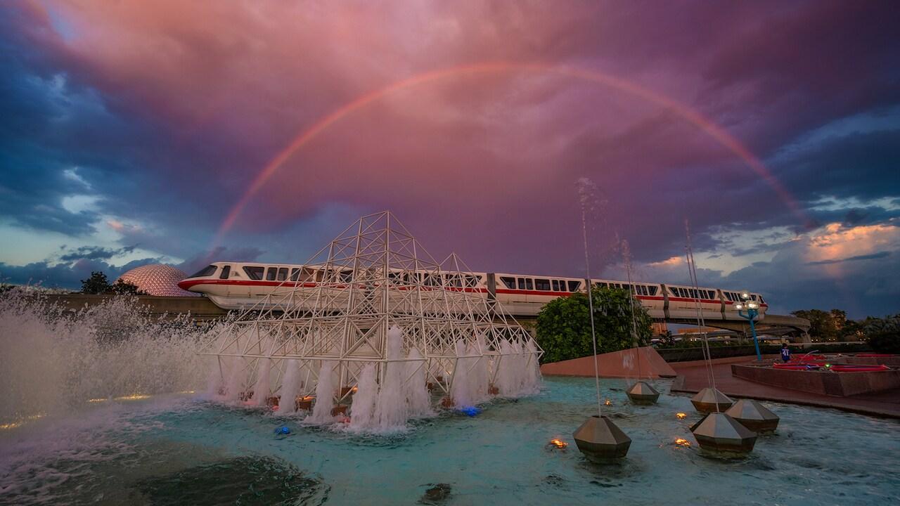 A Rainbow at Dusk At Epcot