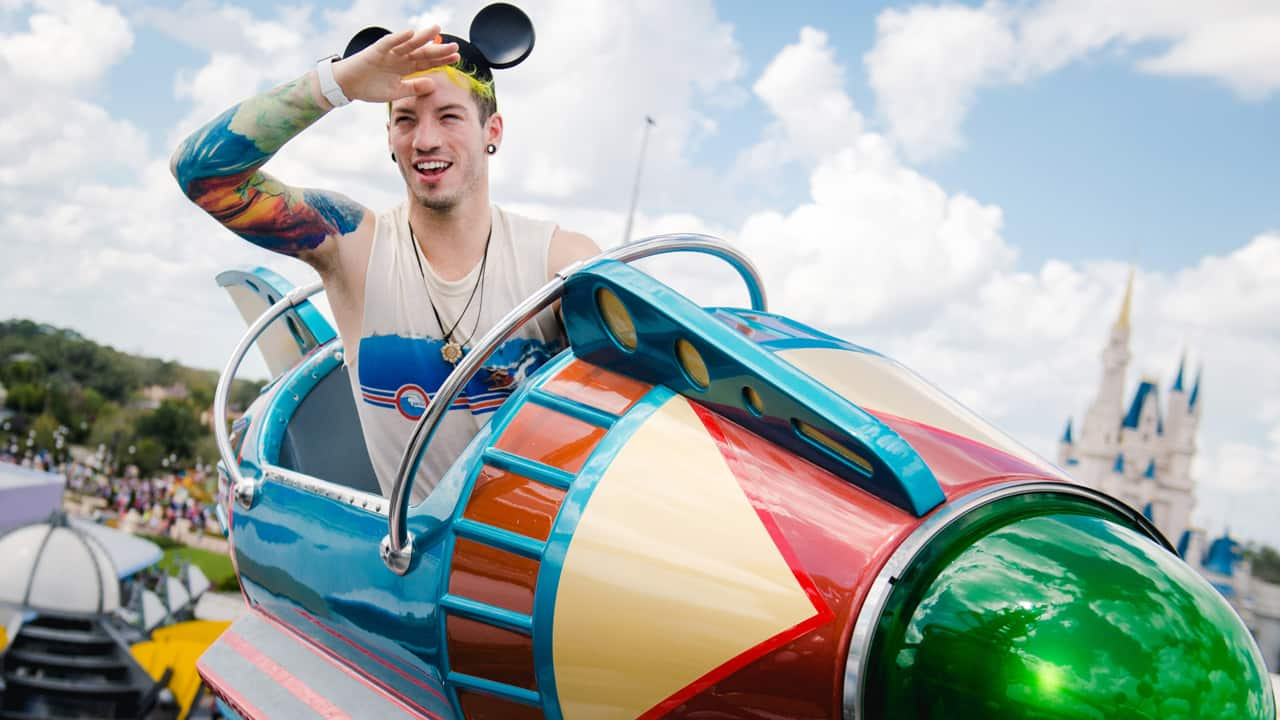 Twenty One Pilots Drummer Blasts Off at Magic Kingdom Park