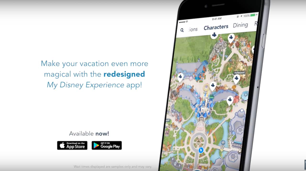 Newly Redesigned My Disney Experience App