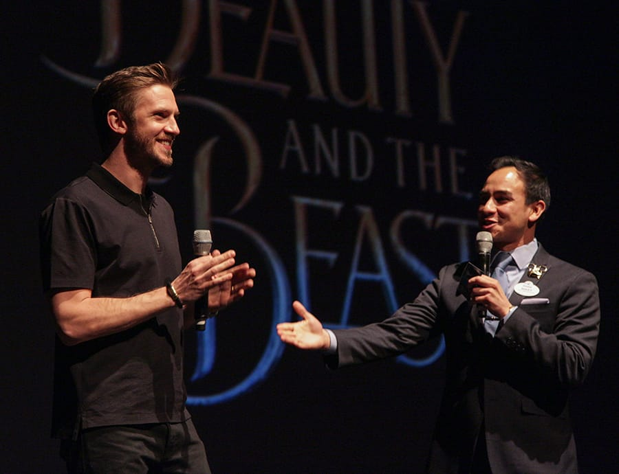 Disney's 'Beauty and the Beast' Star Dan Stevens Surprises Disneyland Resort Guests