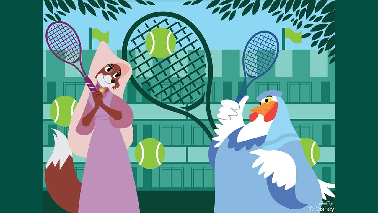 Disney Doodle: Clucky & Maid Marian Get In The Game