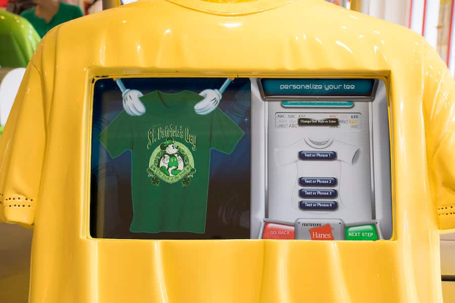Disney Design-A-Tee at Disney Springs