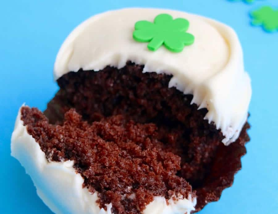 Belgian Dark Chocolate Cake and a Baileys Irish Cream Cheese Frosting from Sprinkles Cupcakes