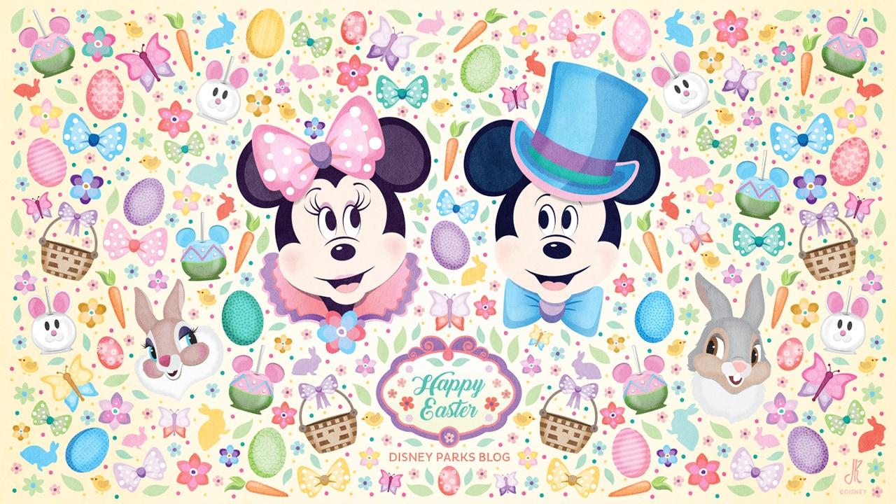 Disney Parks-Inspired Easter Wallpaper