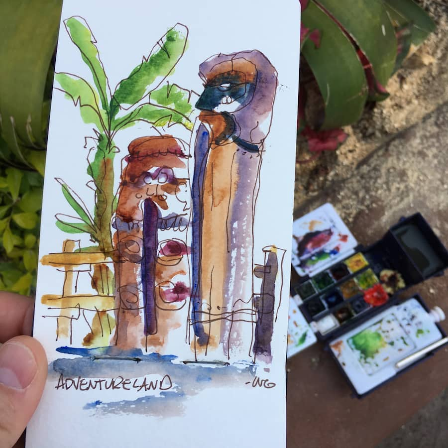Sketches From The Park: Plein Air in Adventureland