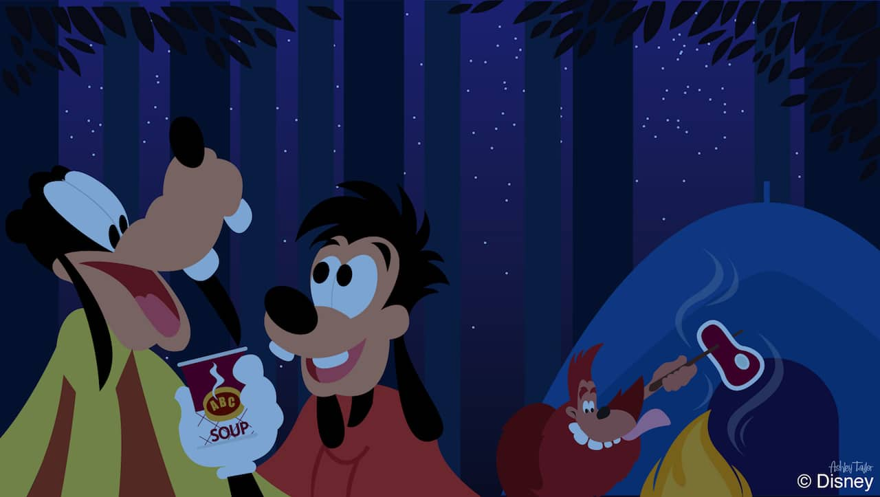 Disney Doodle: Goofy & Max at Disney's Fort Wilderness Resort & Campground