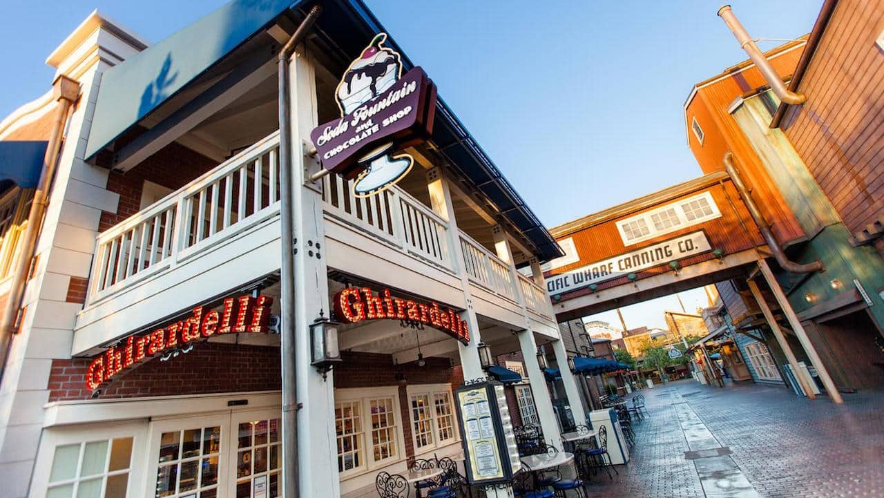 Ghirardelli Soda Fountain and Chocolate Shop at Disney California Adventure Park