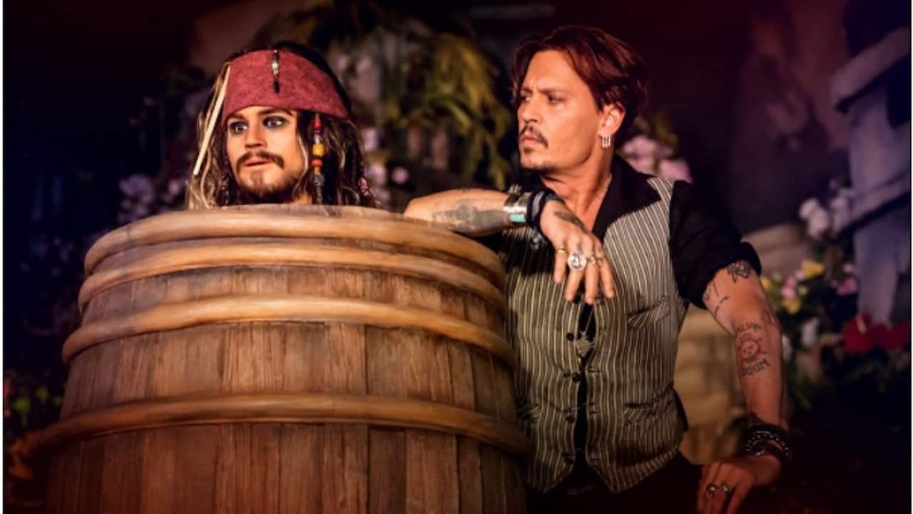 Johnny Depp Visits His New Audio-Animatronics Counterpart in Re-Imagined Attraction