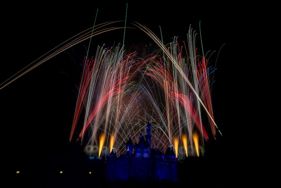 An Entire Disneyland Park Fireworks Spectacular in One Picture