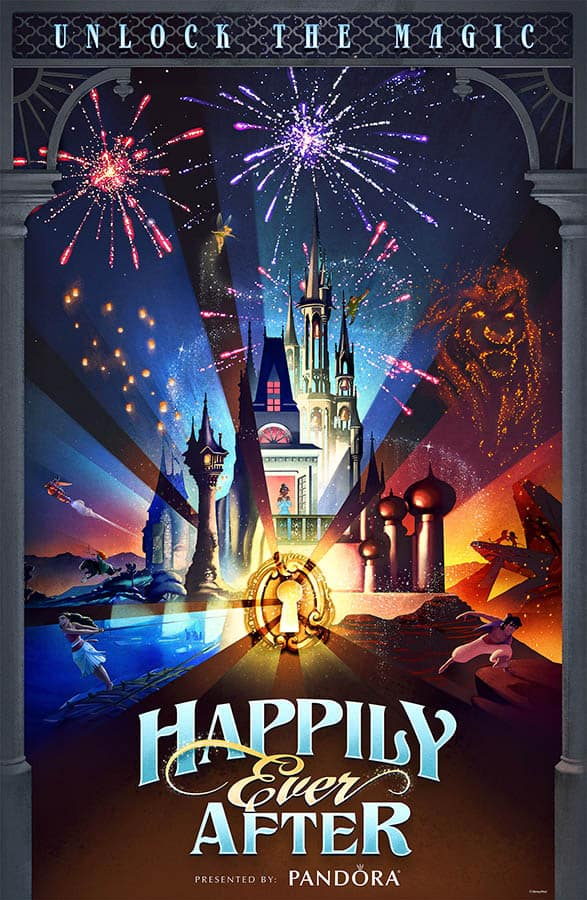'Happily Ever After' Poster Inspires Commemorative Merchandise at Magic Kingdom Park