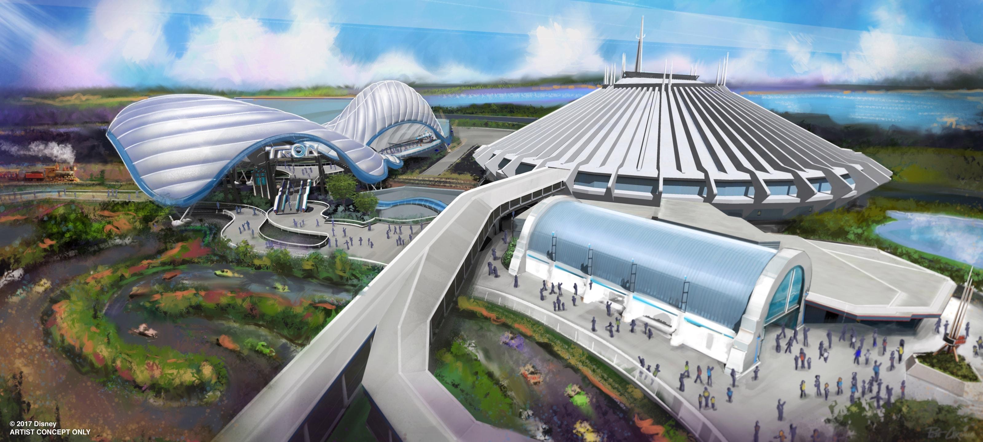New Tron Attraction Coming To Magic Kingdom Park At Walt Disney World Resort Disney Parks Blog