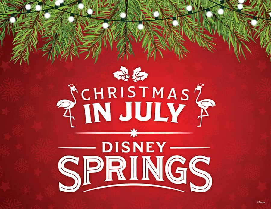 christmas joy and more at disney springs this july
