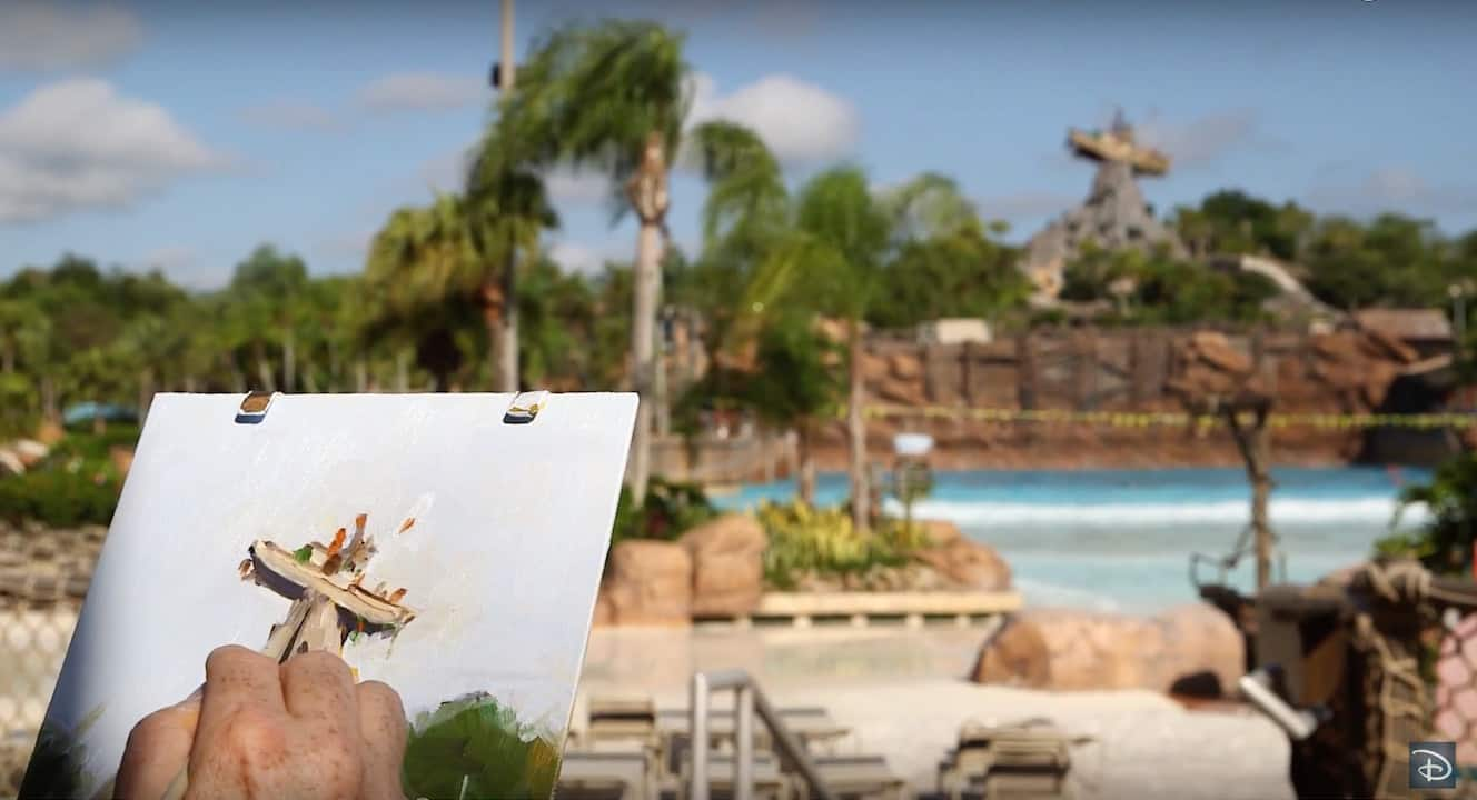 Watch As Disney Artist Will Gay Paints Miss Tilly at Disney's Typhoon Lagoon