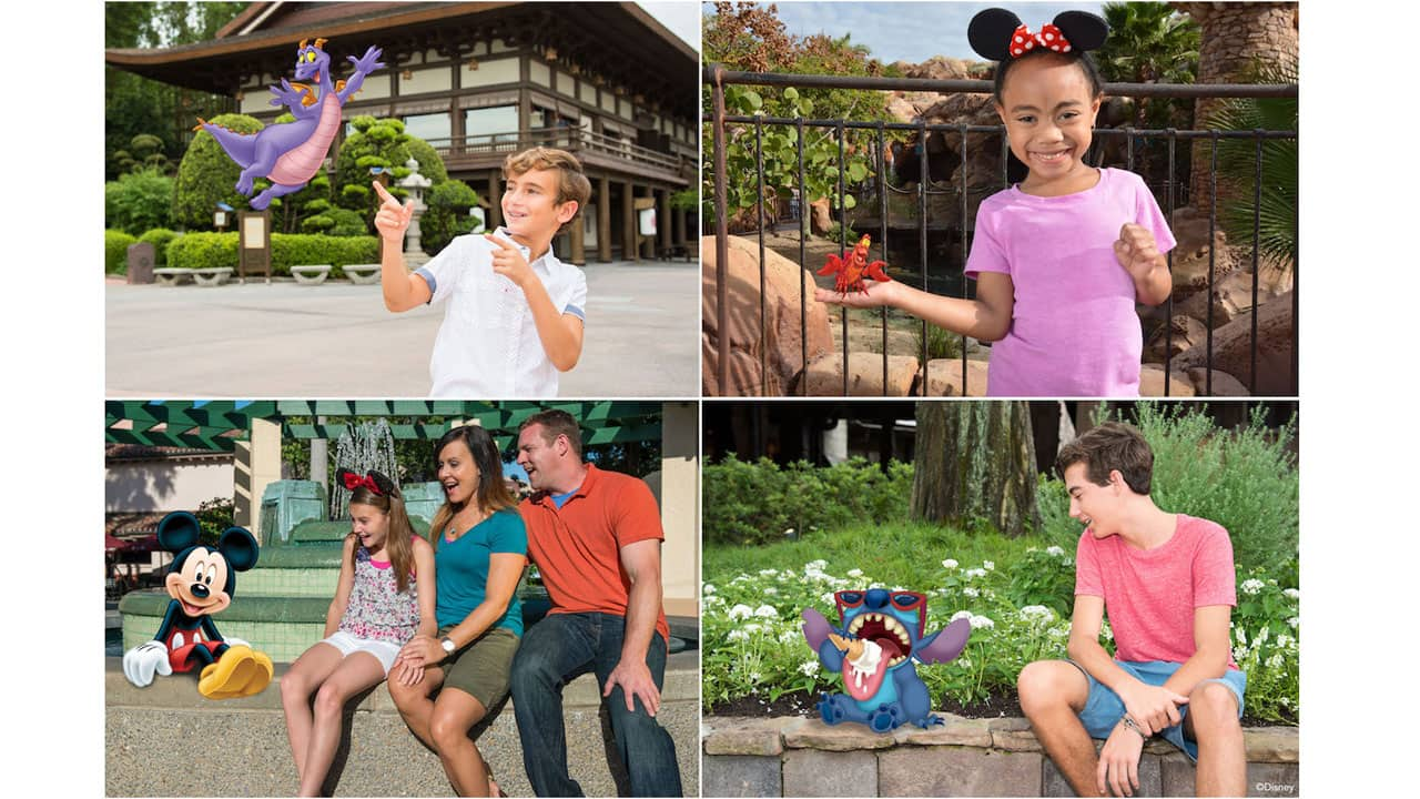 Collage of four pictures with Magic Shot characters