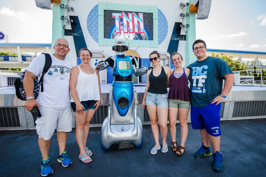 Spot iCan the Showbot in Tomorrowland at Magic Kingdom Park