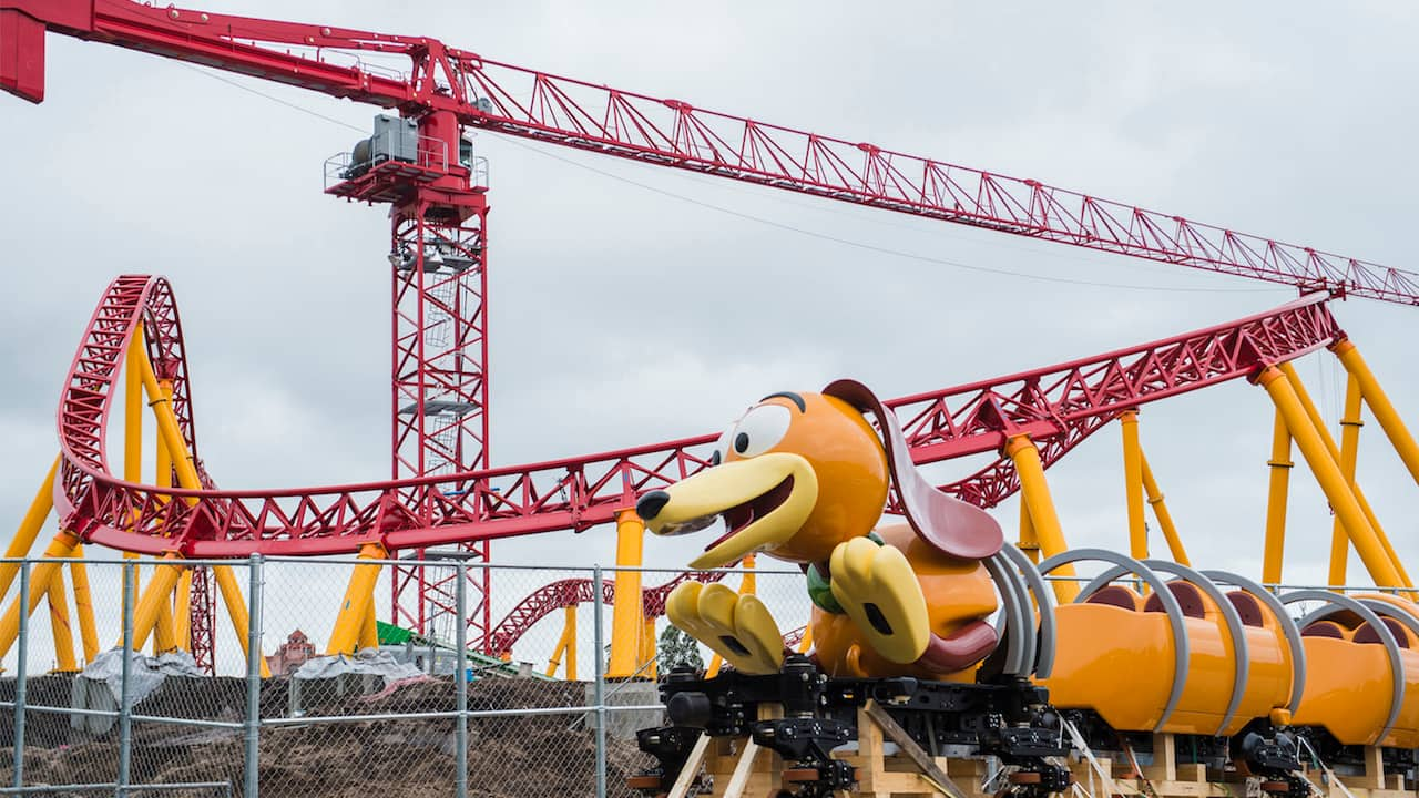 First Look Slinky Dog Dash Ride Vehicle Arrives At Disney S