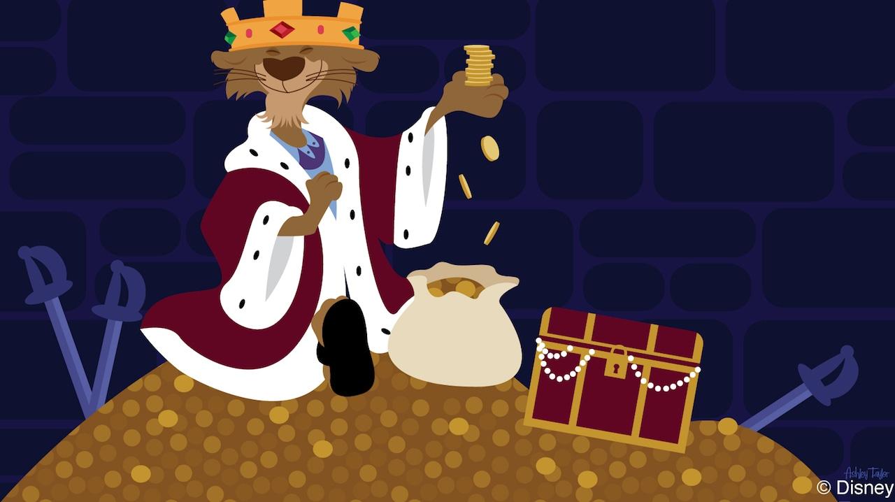 Disney Doodle Robin Hood S Prince John Spies Gold Disney Parks Blog