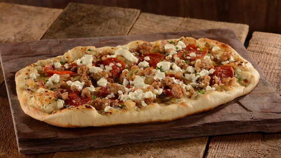 Sausage Pepperoni Flatbread from Roaring Fork