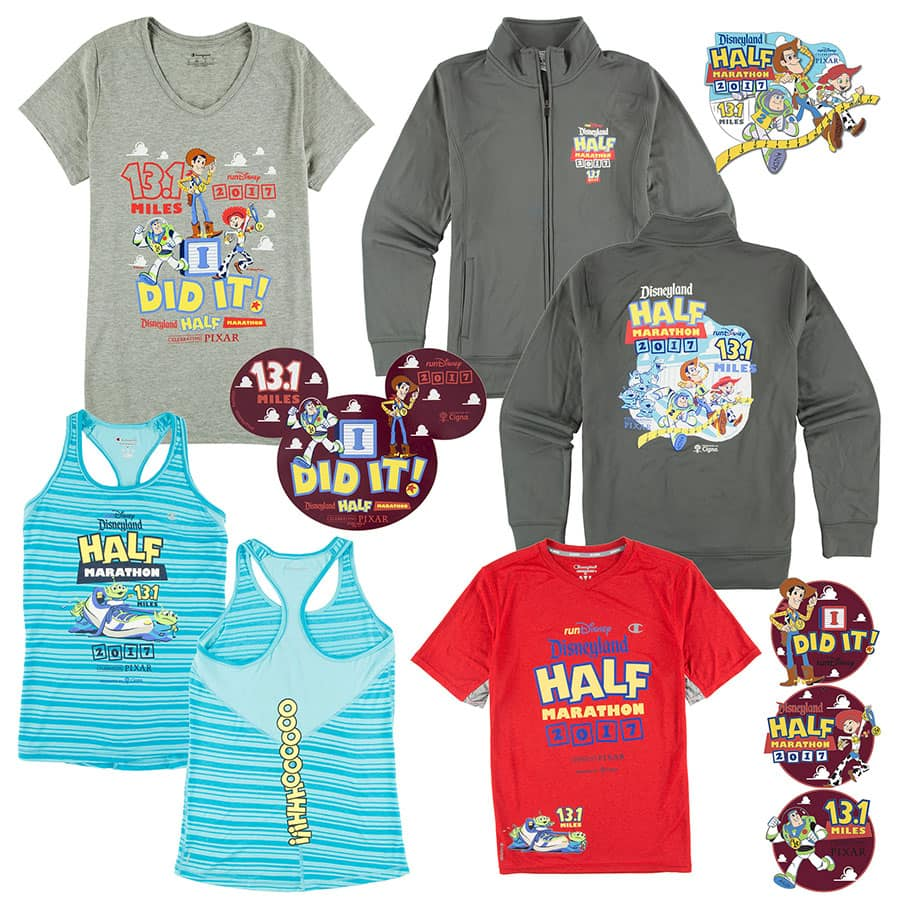 Celebrating Pixar with Commemorative Products for the 2017 Disneyland Half Marathon Weekend