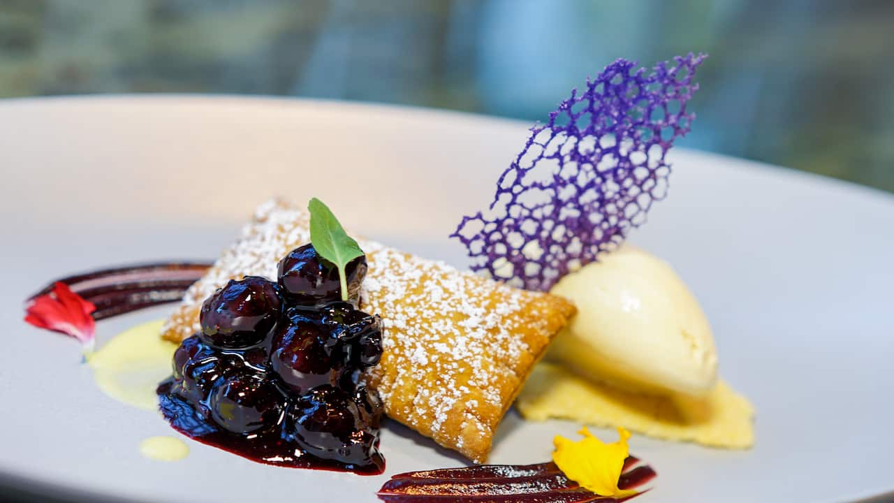 Warm Blueberry Turnover from Napa Rose at Disney's Grand Californian Hotel & Spa