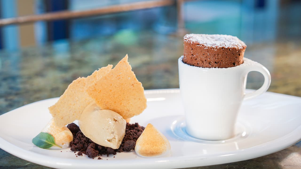 Warm S'more Truffle Cake from Napa Rose at Disney's Grand Californian Hotel & Spa